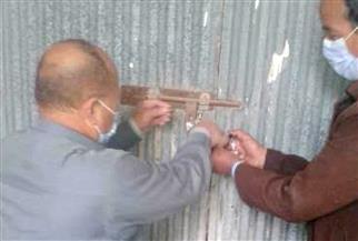 الغلق الإداري لـ4 محطات أهلية لمياه الشرب بمنشأة بشارة في الحسينية | صور