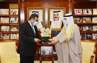 السفير طارق القونى يُسلم رسالة من الرئيس السيسي لأمير الكويت