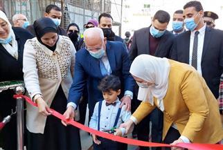 وزيرة التضامن ومحافظ بورسعيد يفتتحان أعمال تطوير منطقة الأمل ببورفؤاد | صور