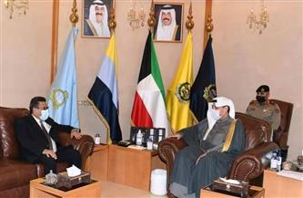 السفير طارق القوني يلتقي نائب رئيس الوزراء وزير الدفاع الكويتي