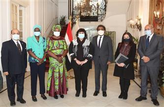 إيناس عبدالدايم: لقاء وزيرة ثقافة جنوب السودان يعكس تواصل مصر الدائم وعمقها الإفريقي | صور