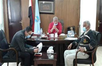 رئيس مدينة مرسى علم يستقبل أعضاء اللجنة العليا والفرعية لحماية الطفل