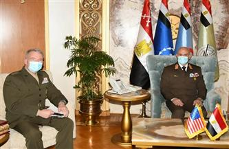 الفريق محمد فريد رئيس أركان حرب القوات المسلحة يلتقي قائد القيادة المركزية الأمريكية| صور
