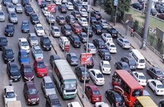 كثافات مرورية بمصطفى النحاس بسبب حادث تصادم سيارتين
