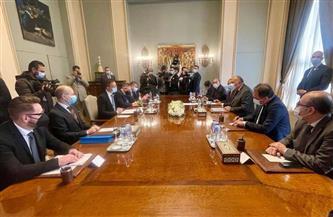 بدء جلسة مباحثات رسمية بين وزيري خارجية مصر والمجر  صور