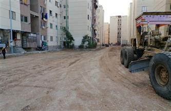 محافظ بورسعيد يوجه بإنهاء  تطوير منطقة الـ 58 عمارة بديل العشوائيات بالضواحي| صور
