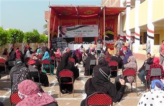 توزيع مساعدات مالية وعينية لـ 400 أسرة بعزبة مشرف بالغربية| صور
