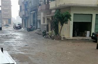 سقوط أمطار متوسطة وغزيرة في الفيوم| صور