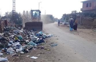 رفع 197 طن قمامة من قرى شبين الكوم بالمنوفية  صور