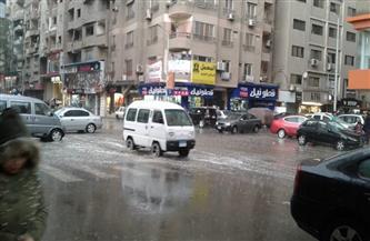 أمطار رعدية غزيرة بالهرم وفيصل | صور وفيديو