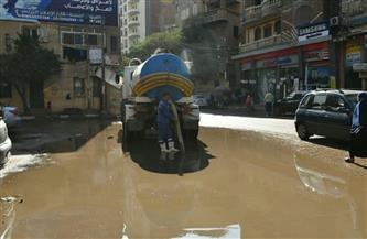 الأجهزة التنفيذية بالفيوم ترفع تراكمات مياه الأمطار | صور