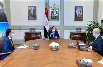 """الرئيس السيسي يطلع على مخطط مشروع """"التجلي الأعظم فوق أرض السلام"""" ويوجه بدقة دراسة جميع تفاصيل المشروع"""