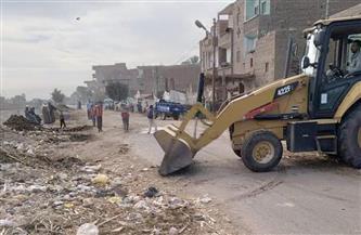 رفع 145 طن مخالفات وقمامة في حملة بقرى مركز المراغة   صور