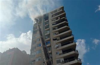4 مصابين في حريق بشقة بالطابق 12 ببرج سكني بكفر الشيخ | صور