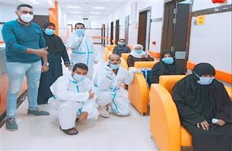 خروج 30 حالة بعد تعافيهم من كورونا بمستشفى العديسات بالأقصر | صور