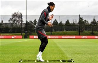 «فان دايك» يقترب من العودة للمشاركة مع ليفربول | صور