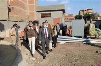 محافظ المنوفية يشهد التشغيل التجريبي لمشروع الصرف الصحي بمنشأة العرب | صور