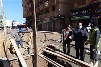 بدء إصلاح خط الطرد للصرف الصحي شرق الإسكندرية لمنع تراكم مياه الأمطار | صور