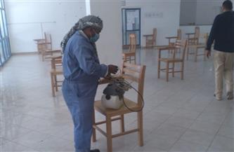 تطهير وتعقيم لجان امتحانات مرسى مطروح لمواجهة فيروس كورونا | صور