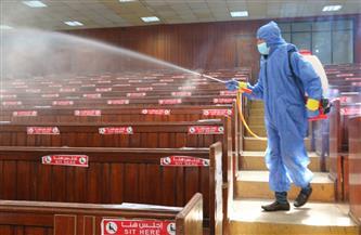 جامعة المنصورة تنهي إجراءات تعقيم الكليات استعدادًا لامتحانات الفصل الدراسي الأول | صور