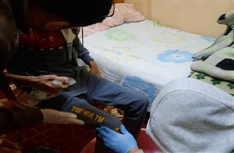 نقل مسن بلا مأوى لدار رعاية بقرية الورق في كفر الشيخ   صور