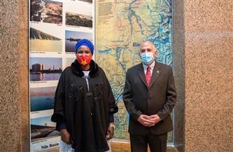 وزير الري يستقبل وزيرة الثقافة بجنوب السودان |صور
