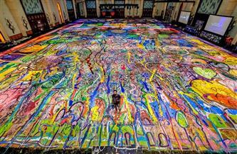 """دبي تترجم """"رحلة الإنسانية"""" عبر أكبر لوحة فنية على القماش في العالم"""