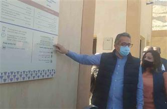 وصول وزير الآثار لافتتاح وتفقد منطقتى أتريبس ومقابر الحواويش بسوهاج| صور