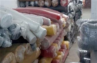 ضبط كمية من الأقمشة المستوردة داخل مخزن بدون ترخيص بالقاهرة
