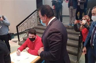 وزير التعليم العالي يتفقد امتحانات طب قصر العيني بجامعة القاهرة |صور