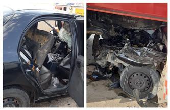 مصرع مدير أمن موانئ السويس والسخنة وإصابة مجند في حادث تصادم بطريق «السويس- السخنة» | صور