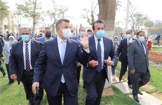 تفاصيل جولة وزير التعليم العالي بجامعة عين شمس |صور