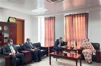 السفير أسامة عبدالخالق يناقش محاور استجابة الاتحاد الإفريقي لجائحة كورونا مع مفوضة  الشئون الاجتماعية | صور