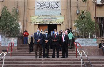 رئيس جامعة الأزهر يتفقد لجان امتحانات كليات الدراسة النظرية ويشيد بالالتزام بالإجراءات الاحترازية |صور