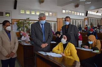 رئيس جامعة المنوفية: انتظام أعمال امتحانات الفصل الدراسي الأول | صور