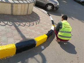 محافظ أسيوط يشيد بمجهودات طلاب ومعلمي التعليم الفني في دهان الطرق والإنارة |صور