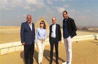 رئيس الاتحاد الدولي للرماية يزور منطقة آثار الهرم |صور