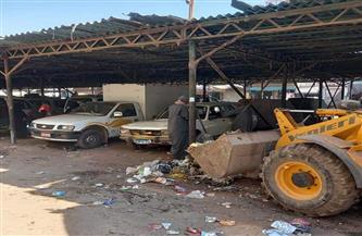 رفع 140 طنا من مخلفات القمامة والأتربة من شوارع وطرق مدينة جرجا | صور