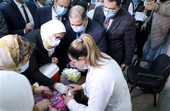 وزيرة الصحة: مصر نجحت في الحصول على 38.2 مليون جرعة للتطعيم ضد شلل الأطفال| صور