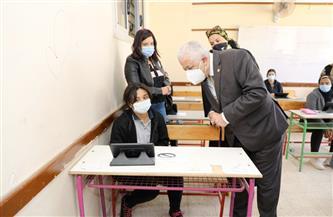 وزير التربية والتعليم يتفقد سير العملية الامتحانية بلجان محافظة القاهرة  صور