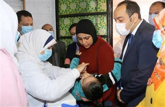 نائب محافظ المنوفية يتفقد أعمال الحملة القومية للتطعيم ضد شلل الأطفال بشبين الكوم | صور