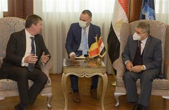 رئيس هيئة قناة السويس يلتقي السفير البلجيكي لبحث سبل التعاون المشترك |صور