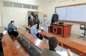 رئيس جامعة الأزهر يتفقد لجان امتحانات الفترة المسائية بكلية التجارة |صور