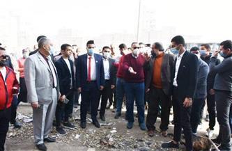 رفع تشوينات فرز القمامة بالطريق الدائري لمنيا القمح | صور