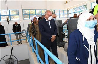 محافظ قنا يشهد الافتتاح التجريبي لمشروع الصرف الصحي لمدينة قفط  صور
