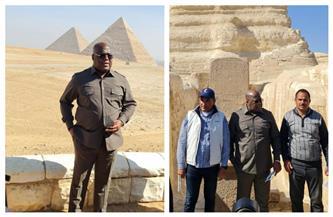 رئيس جمهورية الكونغو يزور منطقة آثار الهرم