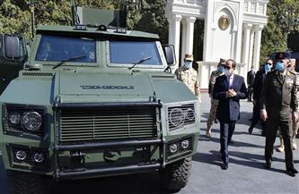 الرئيس السيسي يتفقد عددًا من النماذج للمركبات المدرعة بعد تطويرها من قبل القوات المسلحة| صور