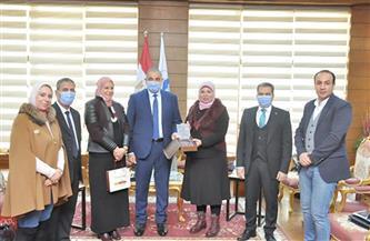 جامعة كفر الشيخ تستقبل رئيس إدارة الطلاب الوافدين بوزارة التعليم العالي