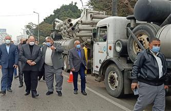 محافظ القاهرة يتابع الاستعدادات الخاصة لمواجهة الأمطار المتوقعة