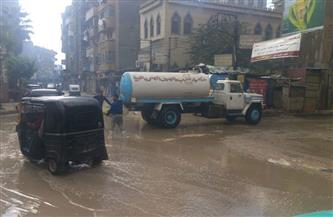 أمطار غزيرة رعدية على مراكز ومدن الغربية  صور